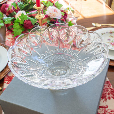 Waterford Crystal Butterflies Centerpiece Bowl