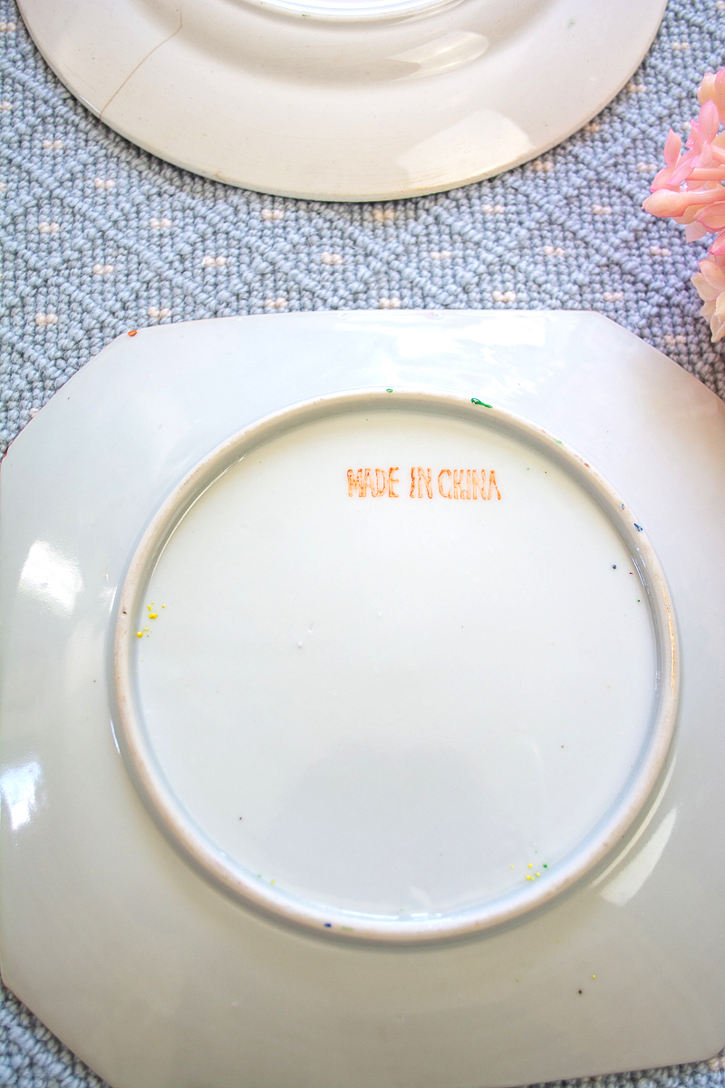Made in China mark on a Rose Medallion plate