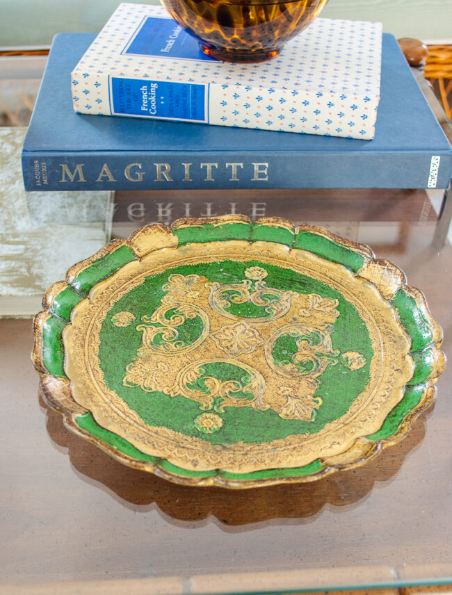 Green Florentine Style Tray