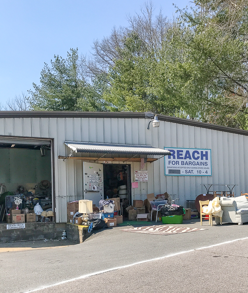 One of the best thrift stores in WNC - Reach for Bargains - exterior view