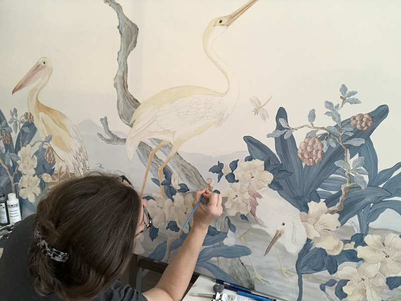 Allison working on 'The Coast is Clear'