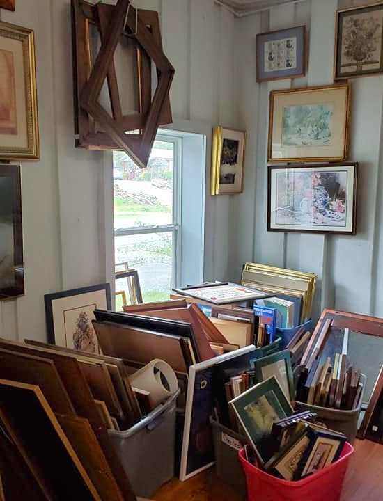 Interior view of Glenville Thrift Store - on of the best in WNC