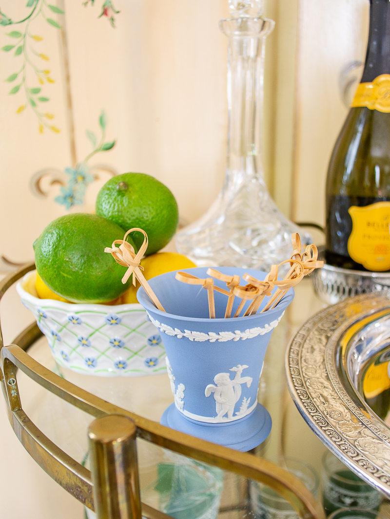 Hold picks and stirrers in a Wedgwood Jasperware vase for an elegant dash of style on your bar