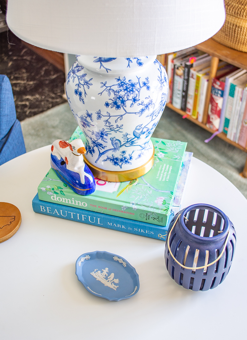 Blue and white Chinoiserie lamp with birds from Birch Lane