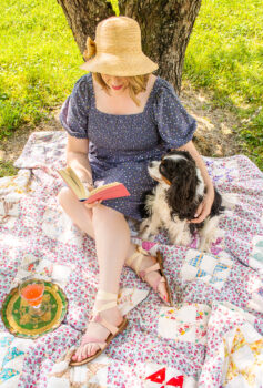 On My Summer Reading List...come enjoy a summer afternoon, a spot of shade, a glass of wine, and a good book with Henry and me!