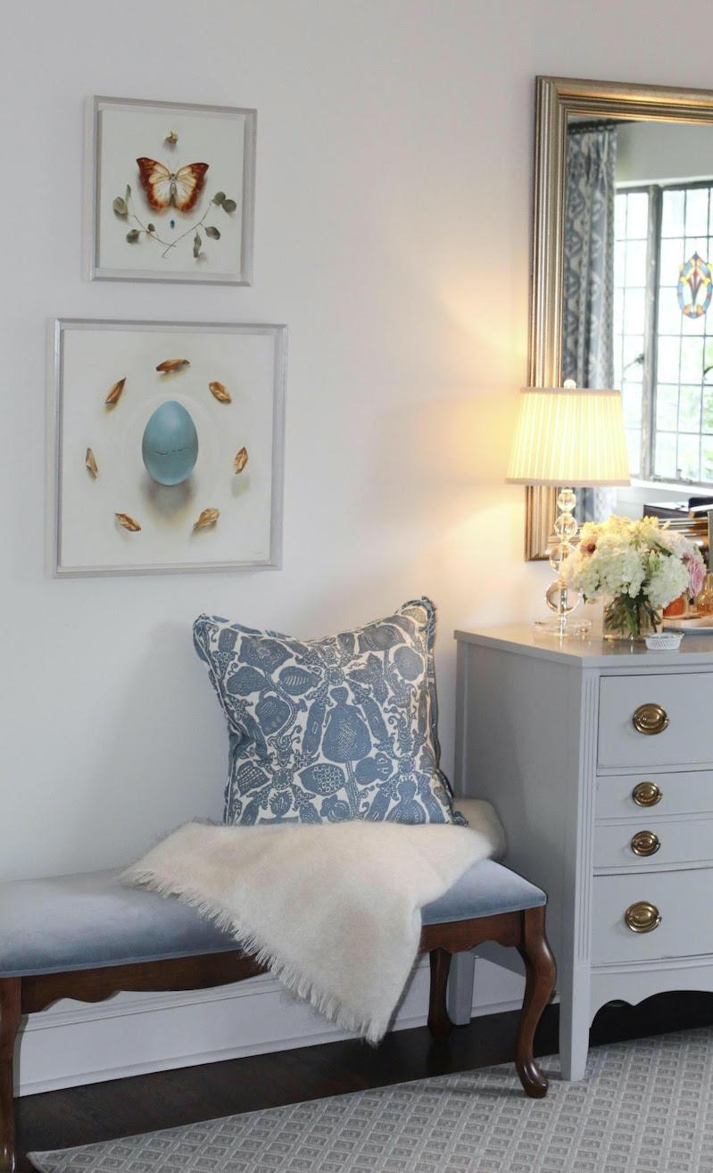 Ida Floreak art works in Goetze's bedroom