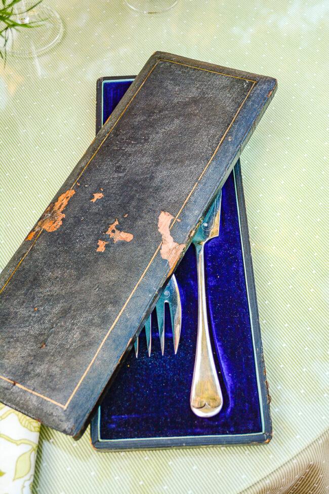 James Dixon & Sons silverplate fish set in original box
