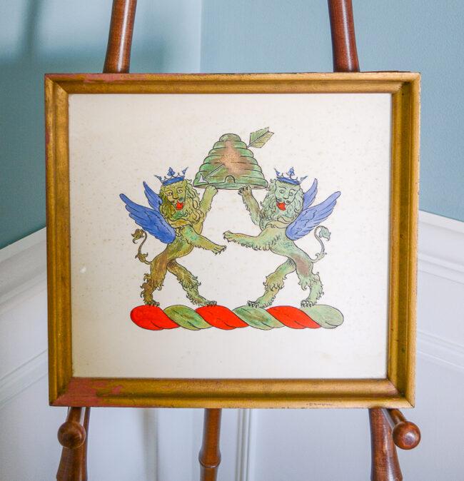 framed Shelburne crest
