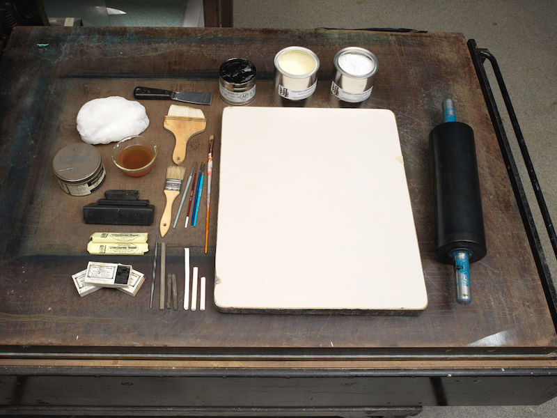 Lithography print making tools