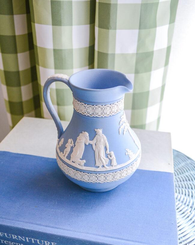 Blue Wedgwood Jasperware Pitcher