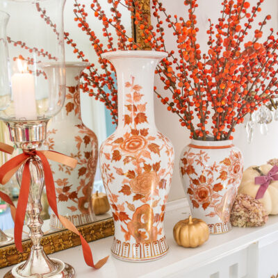 Andrea by Sadek bottle vase in orange florals