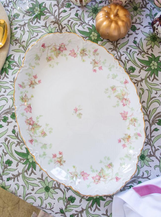 Hutschenreuther Bavarian China - Maple Leaf pattern