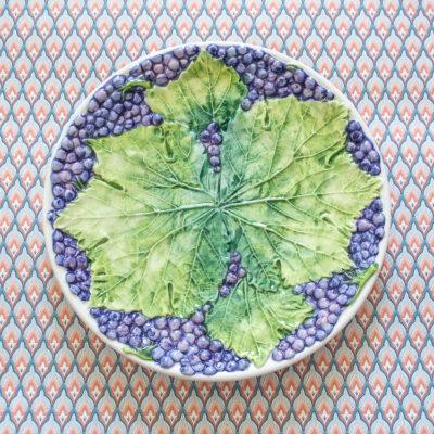Italian grape leaf plate