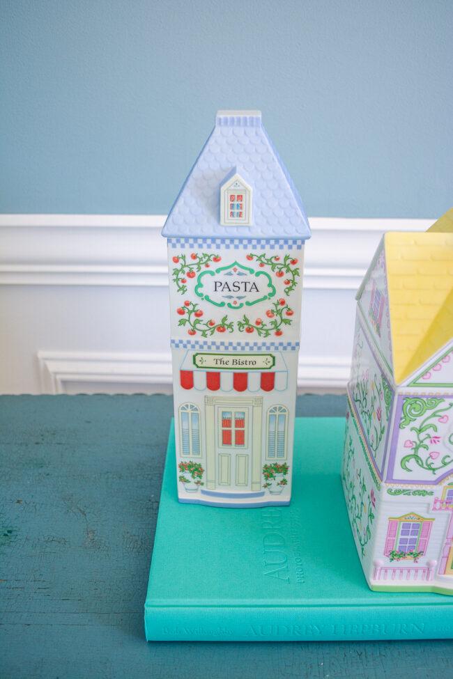 Lenox Village pasta cottage jar