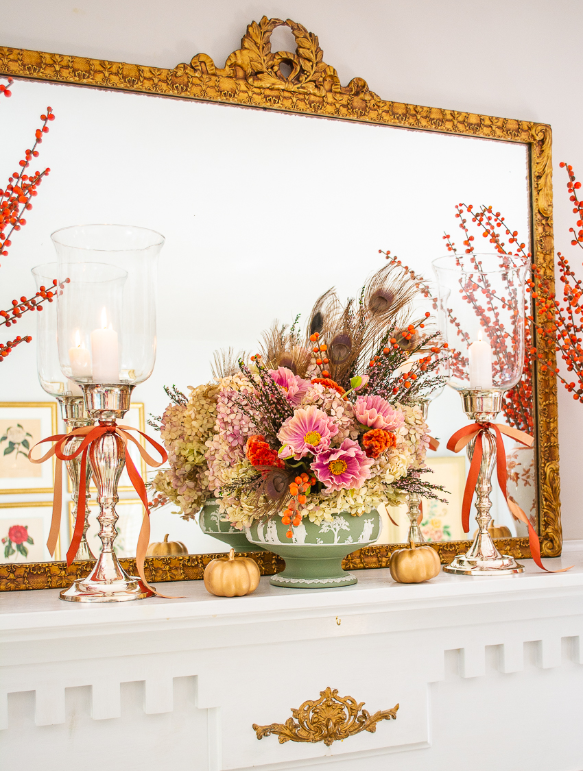Learn my tips to create an elegant fall mantel