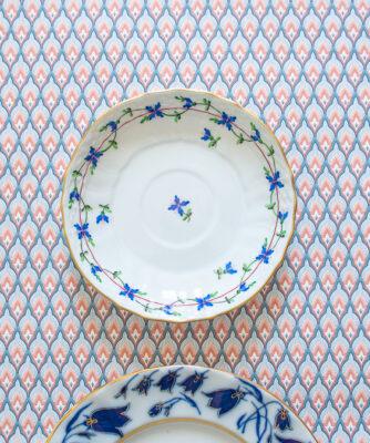 Herend blue garland saucer