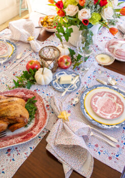 Make planning your next fall gathering easier with this fall dinner party menu that includes smoked chicken, creamed corn, and roast potatoes