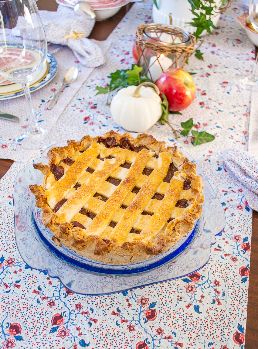 Fresh fig tart for dessert