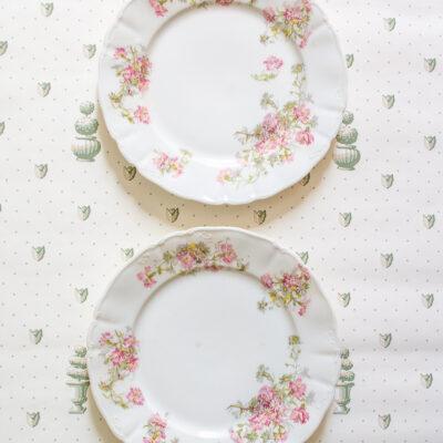 Guerin Limoges floral plates